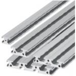 Flat Aluminum Extrusions -No Shoulder- -Slot Width 8mm-