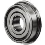 Small Deep Groove Ball Bearings - Double Shielded with Flange, Stainless Steel