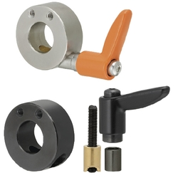 Shaft Collars - Compact with Clamp Lever Wedge - Side Mount Hole