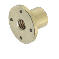 Lead Screw Nuts -Pilot, Tapped Hole, Slotted Hole