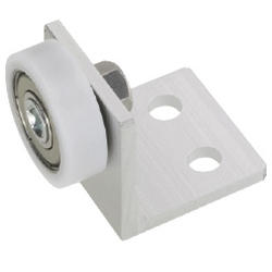 Engineered Plastic Bearings - with Bracket, Flat / Crowned