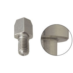 Large Head Locating Pin - Hardened SS, Tapered Tip, Threaded Shank, Angle and D/P Tolerance Selectable, P/L/B/E Configurable (MISUMI)