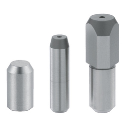 Large Head or Straight Locating Pin - Tapered Tip, Straight Shank, Angle and D/P Tolerance Selectable, P/L/B/E Configurable (MISUMI)