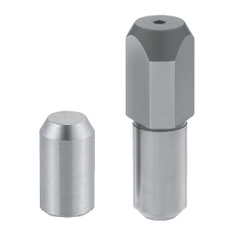 Large Head Locating Pin - Tapered Tip, Tapped Shank, Angle and P/D Tolerance Selectable, P/L/B/E Configurable (MISUMI)