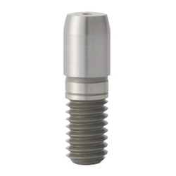 Large Head Locating Pin - Round Tapered Tip, Threaded Shank, D/P Tolerance Selectable, P/L/B/E Configurable, R Selectable (MISUMI)