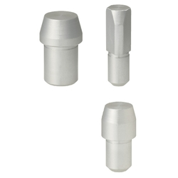Large Head Locating Pin - Nonmagnetic, Tapered Tip, Straight Shank, P/L/B Configurable (MISUMI)