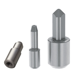 Small Head Locating Pin - Tapered Tip, Tapped Shank, Angle and D/P Tolerance Selectable, P/L/B/E Configurable (MISUMI)