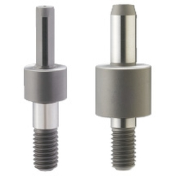 Configurable Shouldered Thick Locating Pin - R/D, Tapered Tip, Threaded Shank, P/L/B/T/H Configurable (MISUMI)