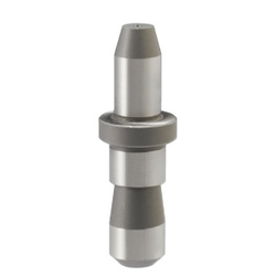 Shouldered Locating Pin - Tapered Tip, Circular Grooved Shank, P/L/B Configurable (MISUMI)
