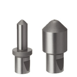 Locating Pins for Fixtures - Standard Grade, Short Set Screw Groove, Tip Shape Selectable, Notched, Shouldered