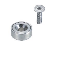Magnets with Countersink Hole, Round Shape