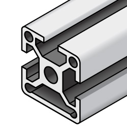 Aluminum Extrusion - 5 series, Base 20, One closed side