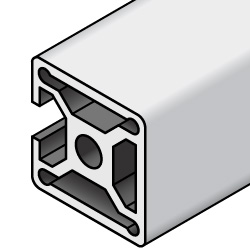 Aluminum Extrusion - 5 series, Base 20, Three sides closed