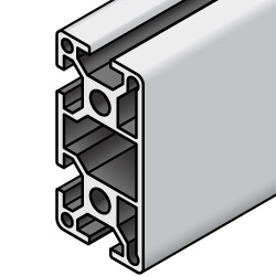 Aluminum Extrusion - 5 series, Base 20 , 20mm x 40mm,  One closed side