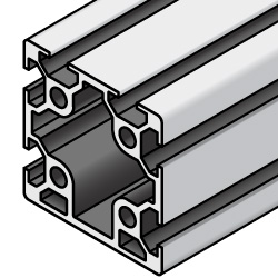 40x40 Aluminum Extrusion - 5 Series, Base 20, One Closed Side (MISUMI)