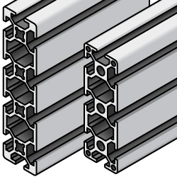 Aluminum Extrusion - 5 series, Base 20 , 20mm x 60mm / 20mm x 80mm