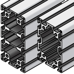 Aluminum Extrusion - 5 series, Base 20 , 40mm x 60mm / 40mm x 80mm