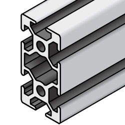 Aluminum Extrusion with Milled Surfaces- 5 series, Base 25 , 25mm x 50mm