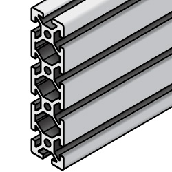Aluminum Extrusion with Milled Surfaces- 5 series, Base 20 , 20mm x 80mm