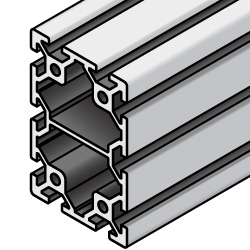 Aluminum Extrusion with Milled Surfaces- 5 series, Base 20 , 40mm x 60mm