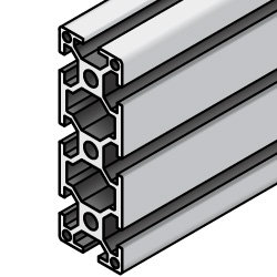 Aluminum Extrusion with Milled Surfaces- 5 series, Base 20 , 20mm x 60mm