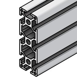 HFS6 Series Aluminum Extrusions 30mm / 60mm Square- -3 Slots or more-