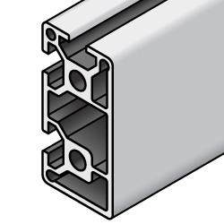 HFS8 Series Aluminum Extrusions 40mm / 80mm Square- -2 Slots-