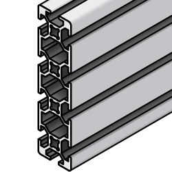 40x160 Aluminum Extrusion - 8 Series, Base 40 (MISUMI)