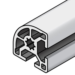 Aluminum Extrusions 8-45 Series (45x45) with Large Corner Radius