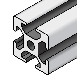 Aluminum Extrusions 8-45 Series (45x45) with Milled Surface