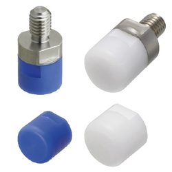 Pushers - MC Nylon/Polyacetal, Threaded, Flat/Round