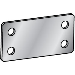 Sheet Metal Mounting Plates/Brackets - Symmetrically placed holes about the center hole.