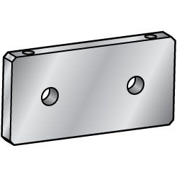 Flat Bars - Mounting Plates, Brackets, Holes Symmetrically Placed Around Center Point  (MISUMI)
