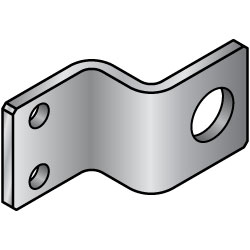 Sheet Metal Mounting Plates / Brackets (for Sensors) -Z Bend Type-