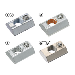 Post-Assembly Fitting Spring Nuts -For HFS8 Series Aluminum Extrusions-
