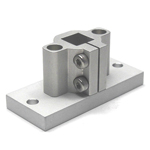 Square Pipe Joint, Vertical Hole for Aluminum Frames