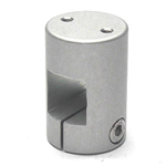 Square Pipe Joint, Square, Threaded (2 Screws Perpendicular to Shaft)