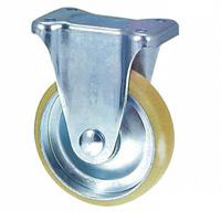 Anti-Static Caster, SKM Series, Fixed (Anti-Static Rubber Wheel)