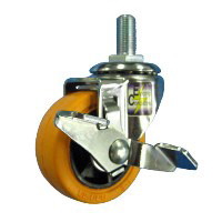Anti-Static Caster, SR Series, Swivel with Stopper