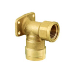 Double Lock Joint, WL5 Type, Shoulder Seat Water Faucet Elbow, Made of Brass (ONDASEISAKUSYO)