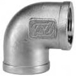 90 Degree Elbow Pipe Fitting - Threaded, Stainless Steel, L Series (O.N. Industries)