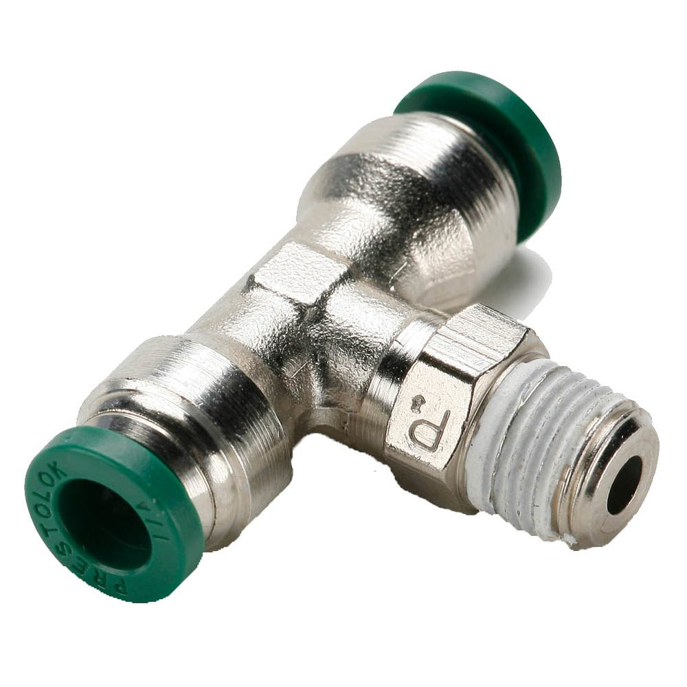 Push To Connect Nickel Plated Brass Fittings - W172PLP Series (Parker Hannifin)