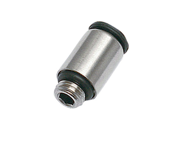 Push To Connect Nickel Plated Brass Fittings - Male Connector Metric Straight Thread, 68LFR Series (Parker Hannifin)
