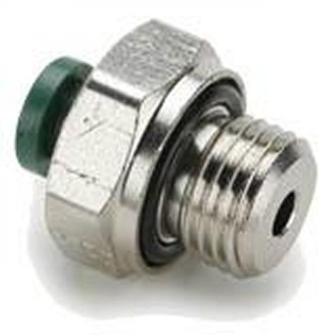 Push To Connect Nickel Plated Brass Fittings - Male Connector BSPP - PLPHBF4-B Series (Parker Hannifin)