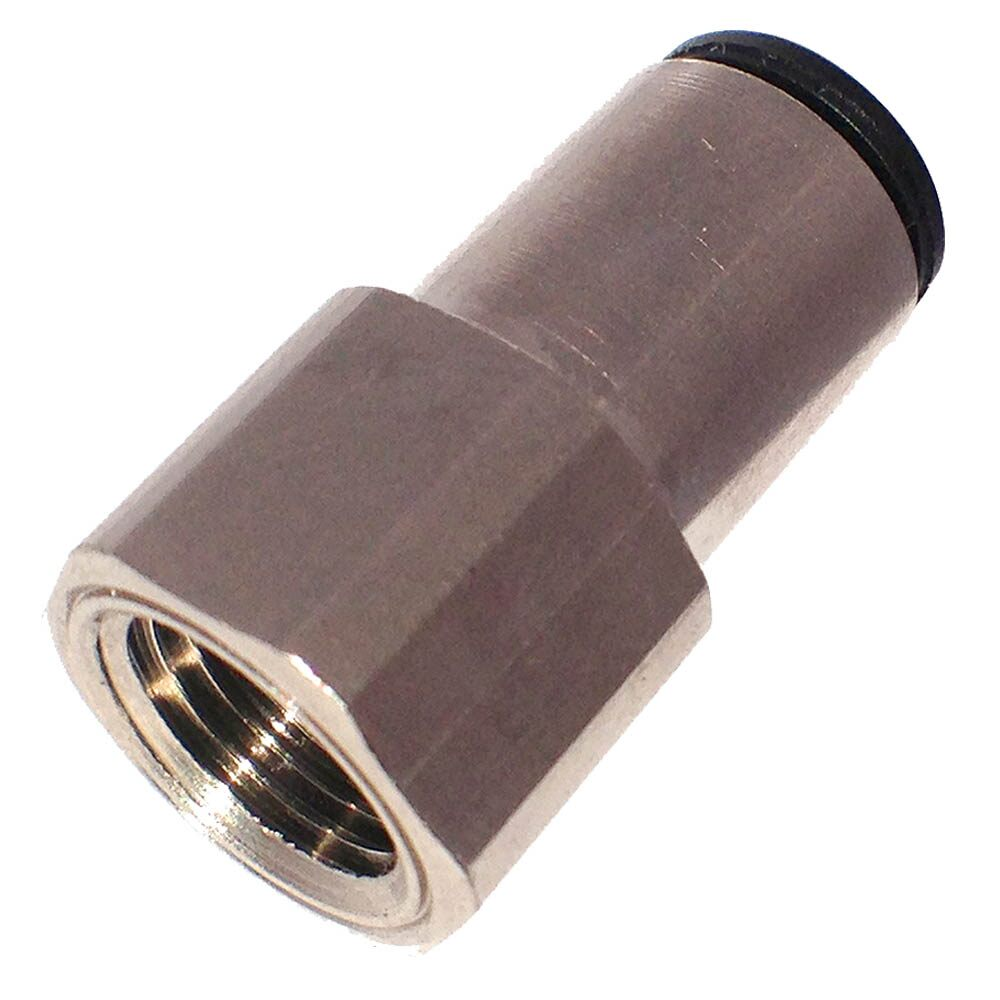 Push To Connect Nickel Plated Brass Fittings - Female Connector NPT - 66LF Series (Parker Hannifin)