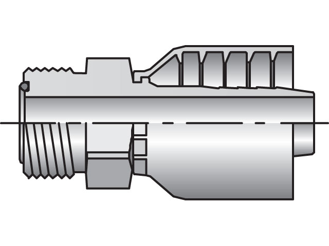 Parker - Crimp Style Hydraulic Hose Fitting - 77 Series Male Seal-Lok®, Rigid