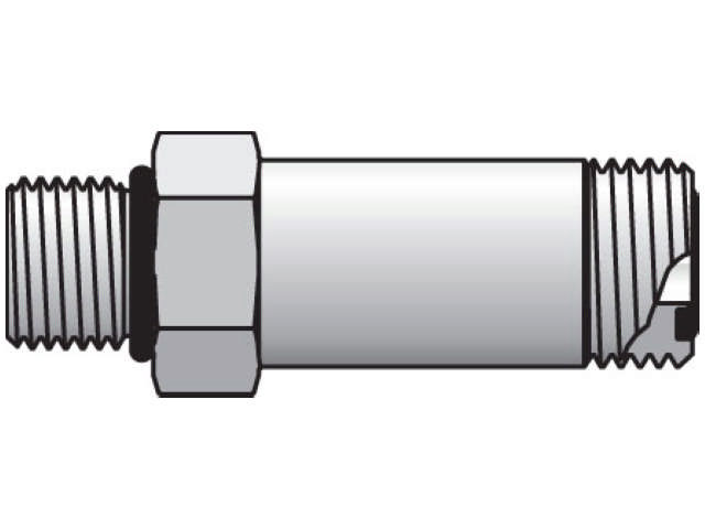 Long Straight Thread Connector - ORFS-Long / SAE-ORB, FF5OLO Series (PARKER HANNIFIN)