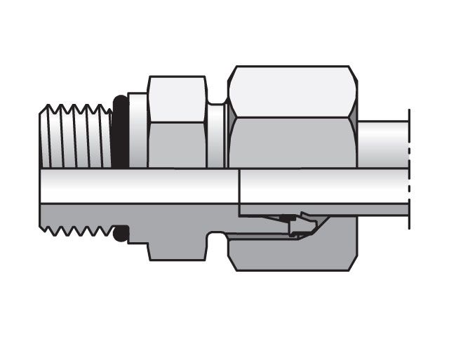 Male Connector - 24 Degree Flareless / ISO 6149, GEO Series (PARKER HANNIFIN)