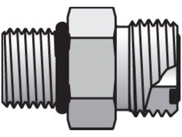 Straight Thread Connector - ORFS / SAE-ORB, F5OLO Series (PARKER HANNIFIN)