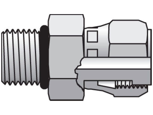 Straight Thread Swivel Connector - ORFS Swivel / SAE-ORB, F65OL Series (PARKER HANNIFIN)